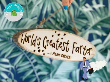 World's Greatest Farter   Dad Banter Personalised Wooden Plaque