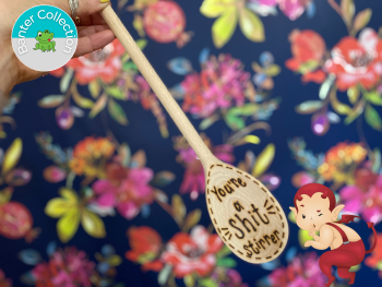 Sh*t Stirrer   Banter Personalised Wooden Spoon