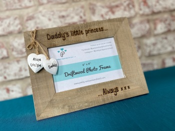 Daddy's Little Princess, Always xxx - Personalised Driftwood Photo Frame
