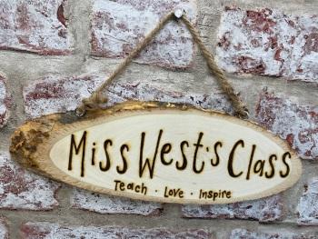 Teacher / Key Worker / Teaching Assistant  - Personalised Wood Slice Plaque