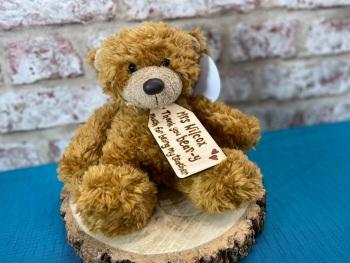 "Thanks Bear-y Much Teacher - 9"" Teddy Bear Plush With Engraved Tag"