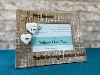 Awesome Teacher / Teaching Assistant - Personalised Driftwood Photo Frame