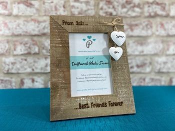 School Prom - Personalised Driftwood Photo Frame