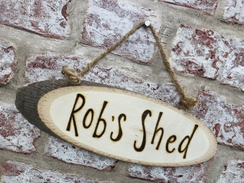 Shed - Personalised Wood Slice Plaque