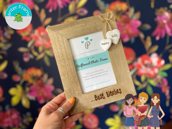 Best Bitches  Personalised Driftwood Photo Frame