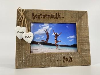 Holiday / Adventure   - Personalised Driftwood Photo Frame