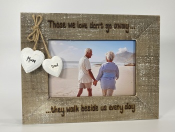 Those We Love Don't Go Away - Personalised Driftwood Photo Frame