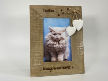 Always In Our Hearts | In Memory | Dog, Cat, Horse - Personalised Driftwood Photo Frame