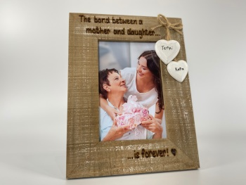 Mother Daughter Bond - Personalised Driftwood Photo Frame