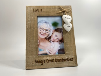 Love is ... Being A Grandma - Personalised Driftwood Photo Frame