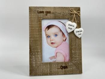 Love You Nan / Gran / Grandma / Grandad - Personalised Driftwood Photo Frame