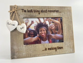 The Best Thing About Memories, Is Making Them - Personalised Driftwood Photo Frame
