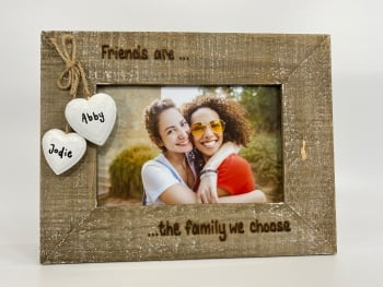 Friends Are The Family We Choose - Personalised Driftwood Photo Frame