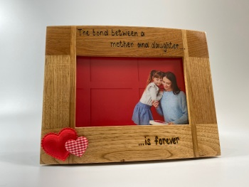 The Bond Between Mum And Daughter - Personalised Solid Oak Wood Photo Frame