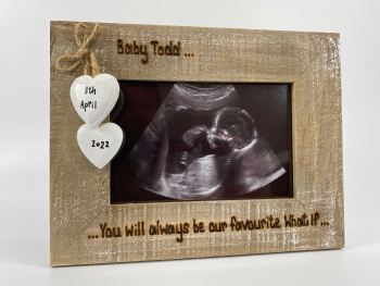 You Will Always Be Our Favourite What If  / Miscarriage  - Memorial - Personalised Driftwood Photo Frame