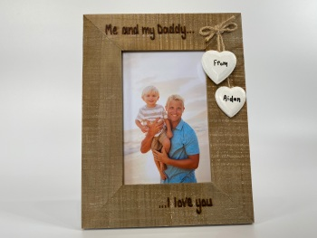 Me and My Daddy, I Love You  - Personalised Driftwood Photo Frame