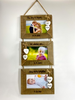 Design Your Own - Triple Driftwood Photo Frame