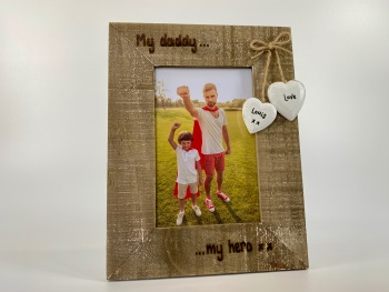My Daddy, My Hero - Personalised Driftwood Photo Frame