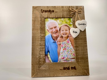 Grandad And Me  - Personalised Driftwood Photo Frame
