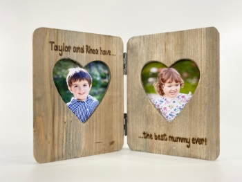 The Best Mummy / Daddy Ever  - Personalised Double Driftwood Photo Frame