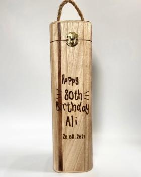 Happy Birthday - Personalised Wooden Wine Box Holder