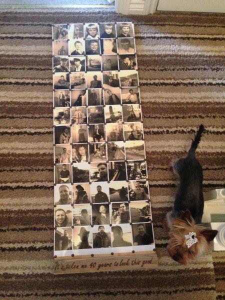 Photo board for 40th birthday