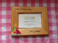 Fathers Day yacht photo frame