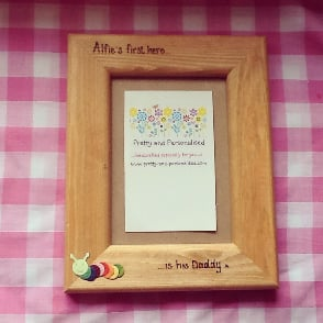 Daddy sons first hero photo frame