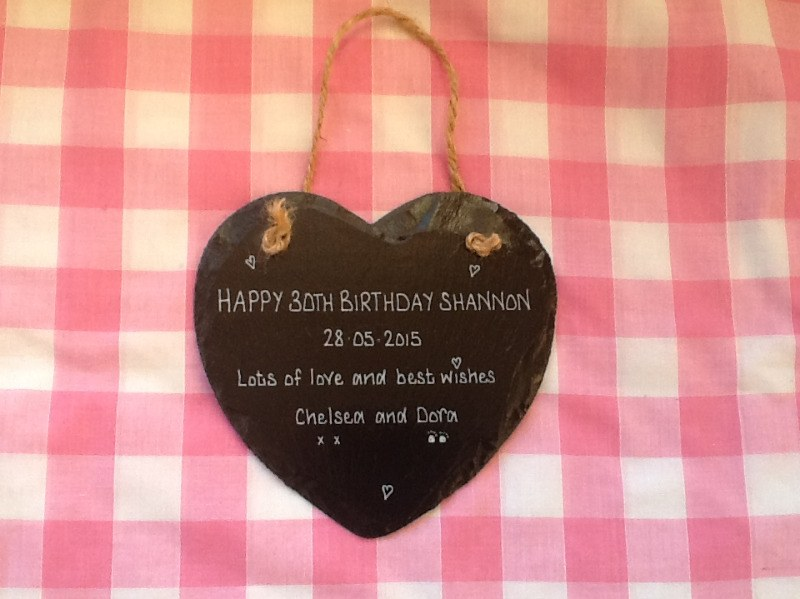 design your own personalised slate heart sign plaque