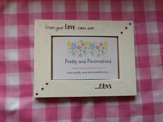 Design your own white personalised photo frame