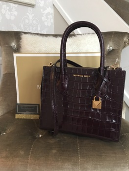 Michael Kors Damson Moc Croc Mercer Cross Body.