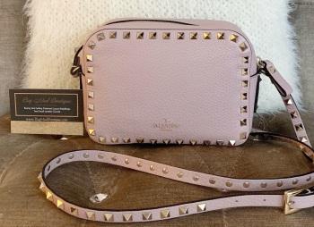 Valentino Nude Pink Rockstud Camera Bag