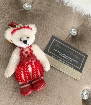 Prada Red Swarovski Teddy Bear Charm/Keyring