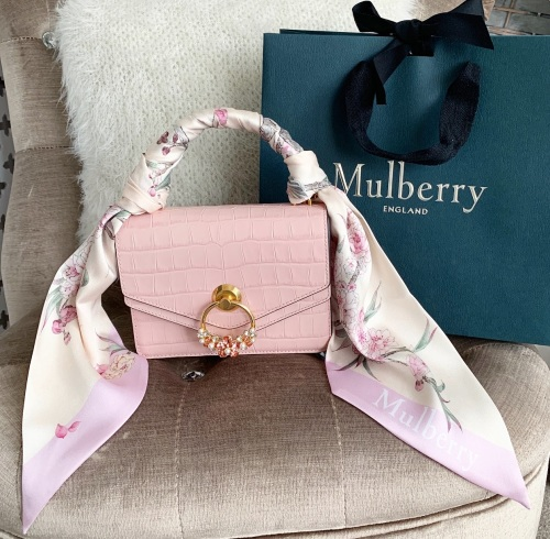 Mulberry Valentine's Small Croc Harlow With Scarf