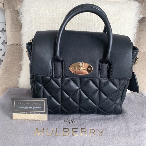 Mulberry Blacks small Cara Backpack/Bag