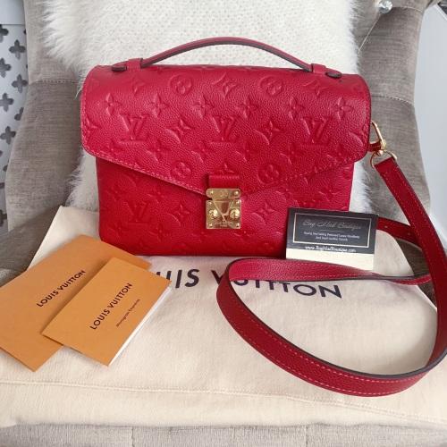 Louis Vuitton Scarlet Empreinte Pochette Metis