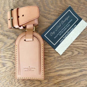 Louis Vuitton Vintage Vachetta Small Luggage Tag And Cuff