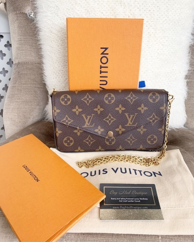 Louis Vuitton Monogram And Fuchsia Felicie