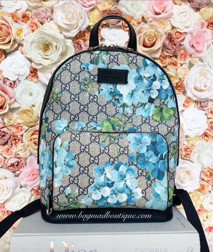 Gucci Blue Blooms Small Backpack