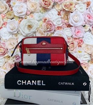 Gucci Tri Colour Ophidia Canvas Mini Bag