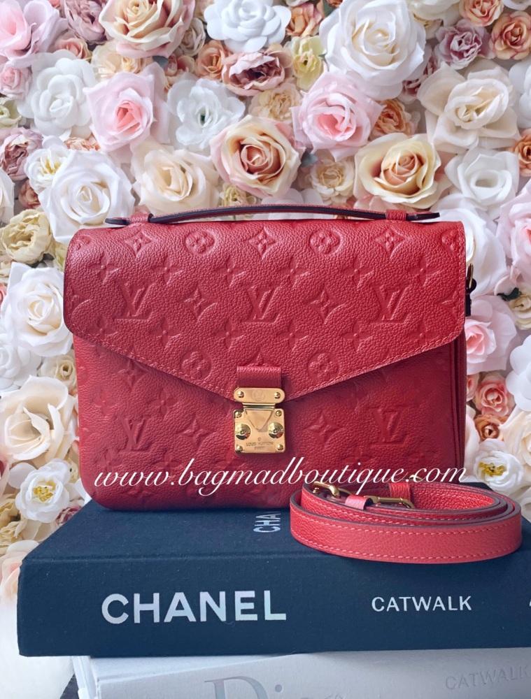 Louis Vuitton Scarlet Red Empreinte Pochette Metis