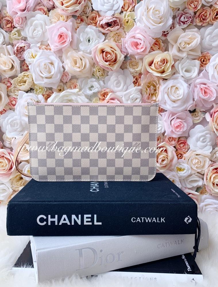 Louis Vuitton Damier Azur Rose Ballerine Nevrfull MM/GM Pochette
