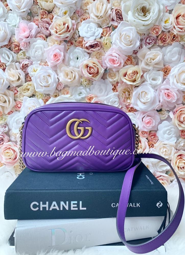 Gucci Purple Small Marmont Camera Bag
