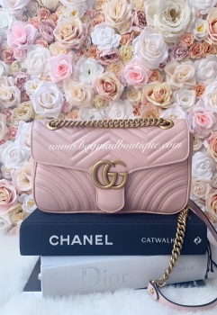 Gucci Pale Pink Small Marmont Flap Bag