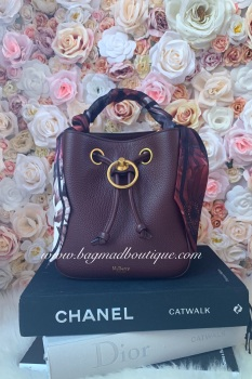 Mulberry Burgundy Small Hampstead with Twilly