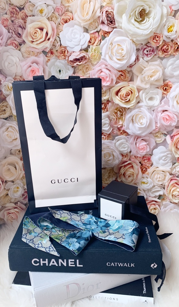 Gucci Blue Blooms Twilly