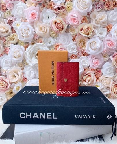 Louis Vuitton Scarlet Empreinte 6 Key Holder
