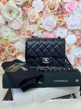 Chanel SHW Black Lambskin Square Mini