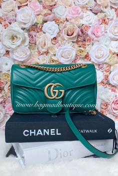 Gucci Emerald Green Small Marmont Flap