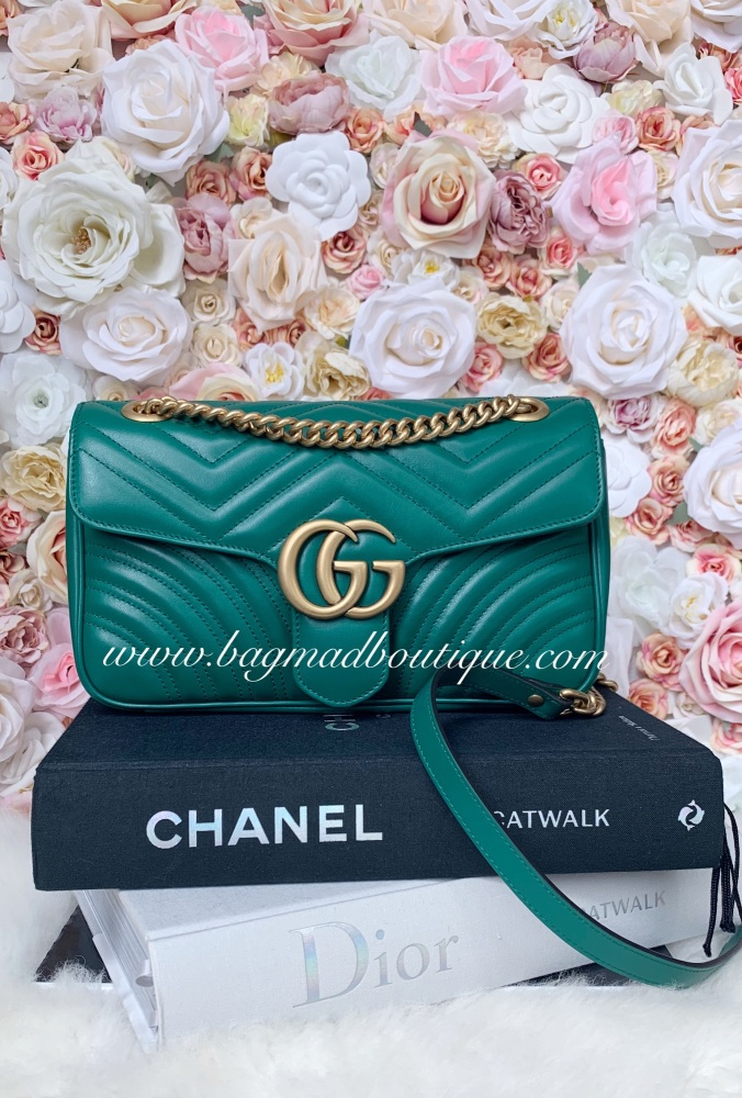 Gucci Emerald Green Small Marmont Flap